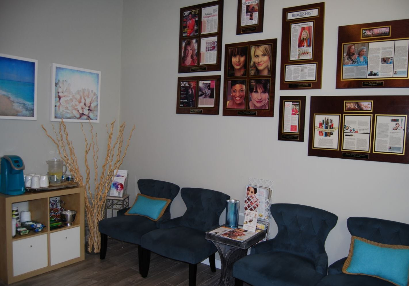 Skin Perfect Spa Reception After